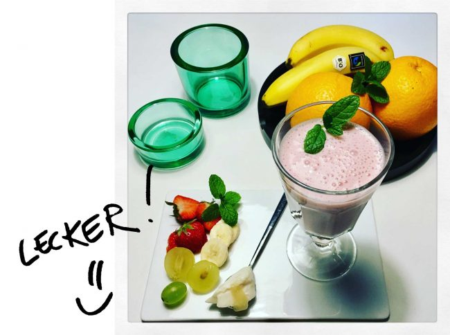 Rezept für einen Seidentofu Shake auf dem Kochblog MoKoWo