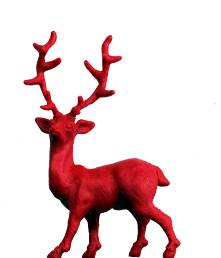 weihnachten roter hirsch