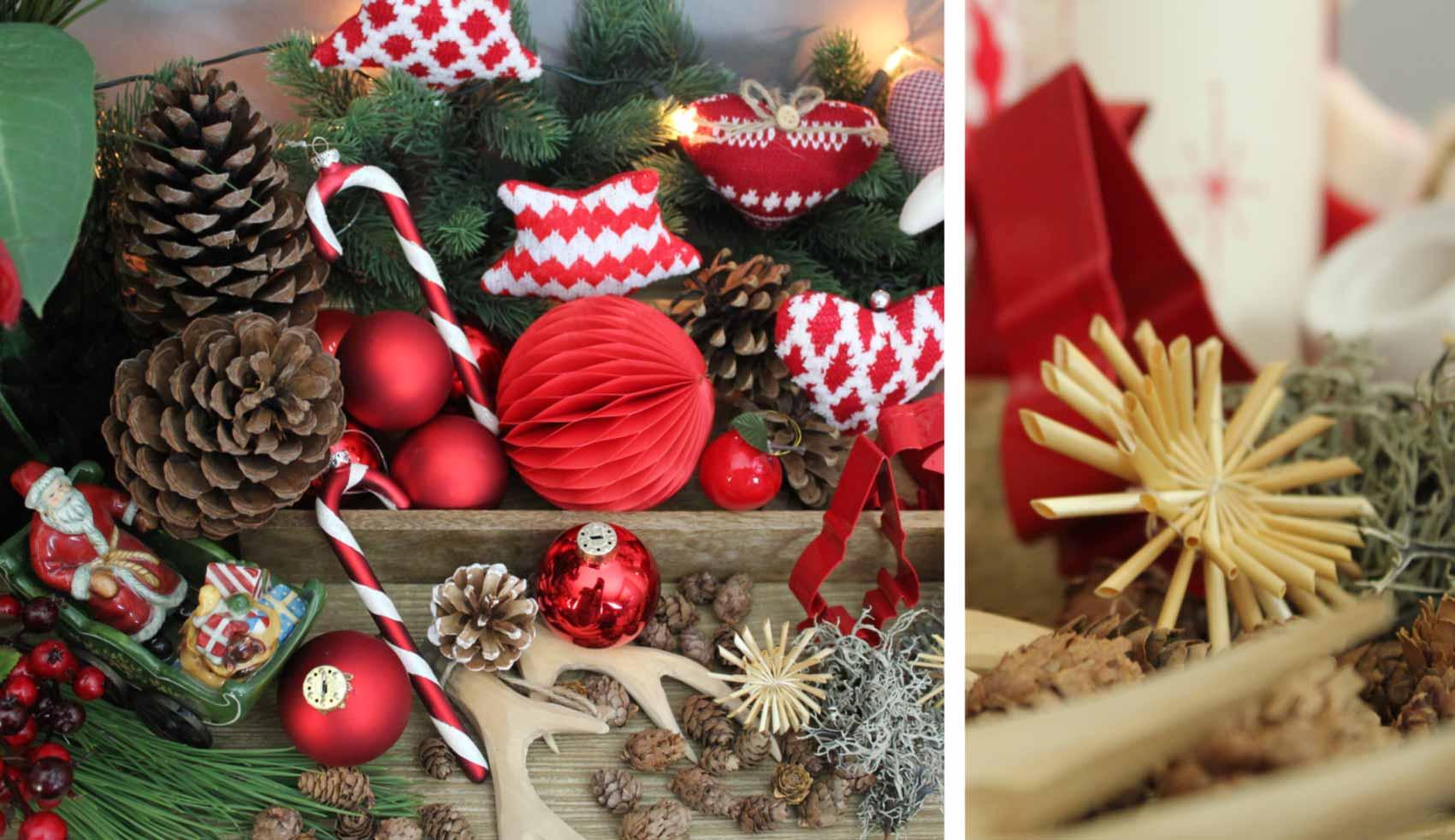 Dekoration weihnachten mokowo lifetyleblog rot stroh mokowo - Dekoration rot ...
