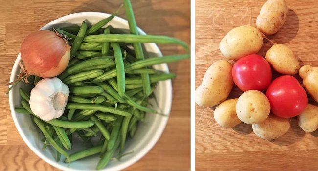 Rezept Bohneneintopf mit Blick auf die Zutaten auf dem Kochblog MoKowo aus Berlin