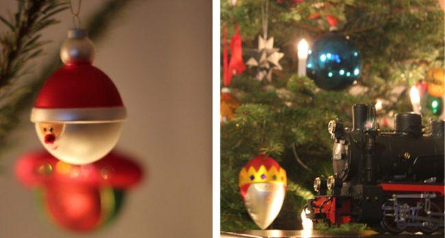 weihnachtsbaum bunt mit Weihnachtsbaumkugeln