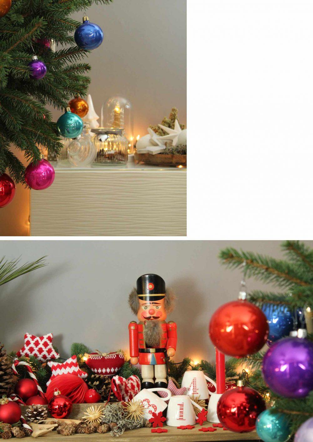 deko weihnachtsbaum bunt weihnachten mokowo collage mokowo. Black Bedroom Furniture Sets. Home Design Ideas