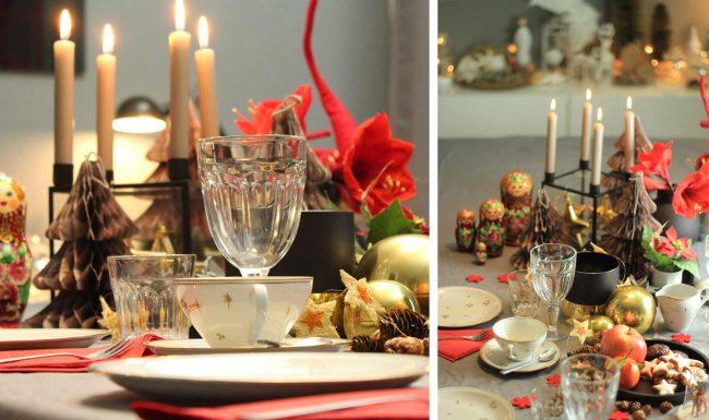 festliche tischdekoration an weihnachten - Detail von Festtafel auf dem Interior Blog MoKoWo