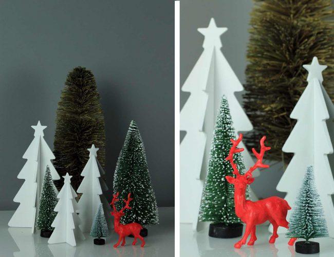 tipps zur Weihnachtsdekoration-roter hirsch also deko-weihnachten-detail
