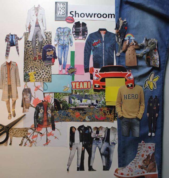 Collage zum Thema Muster aus Modemagazinen zur-Fashionweek-Berlin-Januar