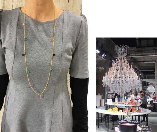 Bild Kette der Marke Sophiebysophie auf der Show&Order im Kraftwerk Berlin zur Fashionweek