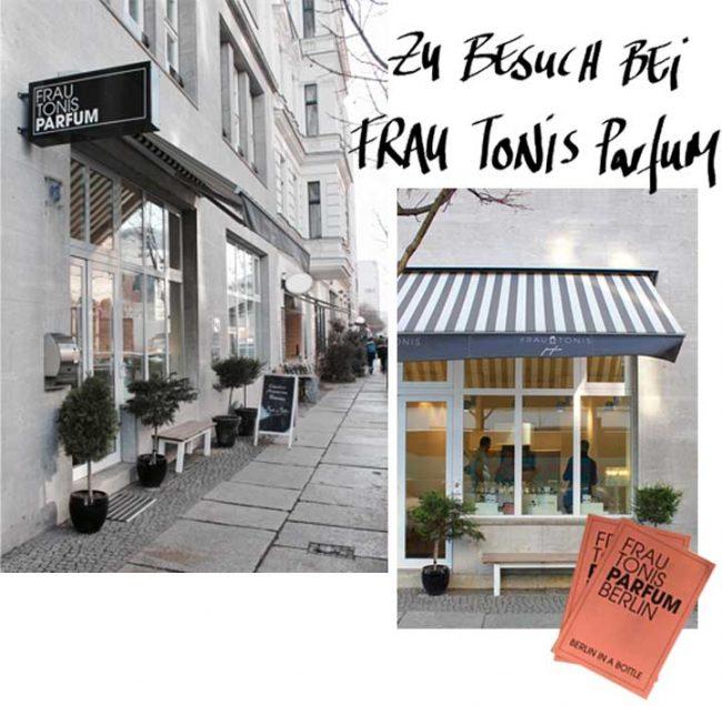 Außenbild Geschäft Frau Tonis Parfum in Berlin in der Zimmerstraße