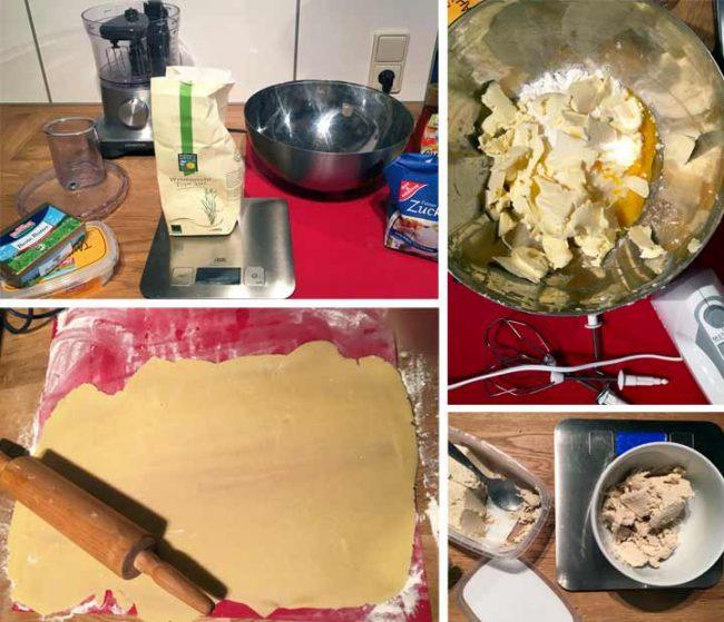 Zubereitung und Rezept Halvaschnecken - Backen und Zutaten