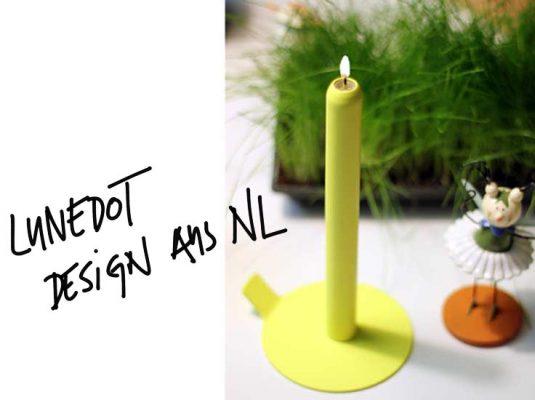 Beitragsbild Kerze von LUNEdot - Design Kerze mit Kerzenständer aus Holland, Interior Blog