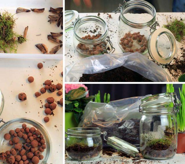 Collage Bepflanzen von Einwegglas als Gewächshaus DIY Interior Blog