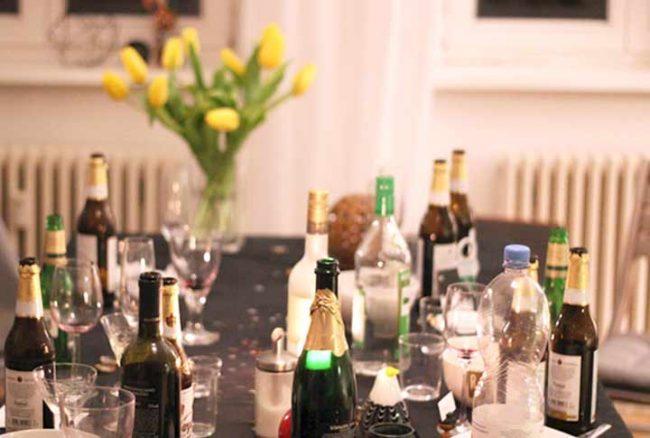 Tisch mit Getraenken auf lifestyle blog Mokowo