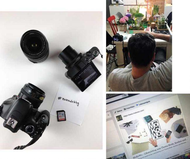 Bild mit Kamera und WordPress des lifestyle blog mokowo