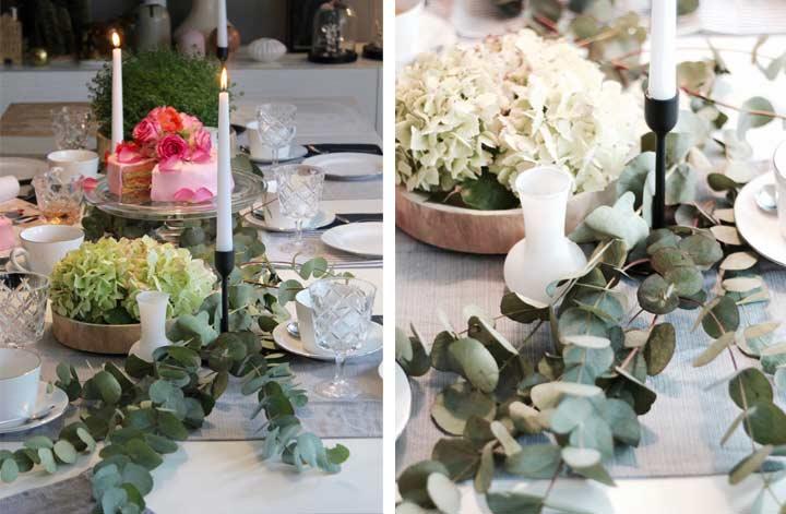 festliche tischdekoration hortensien mit glycerin konservieren wohnblog dekoration interiorblog. Black Bedroom Furniture Sets. Home Design Ideas
