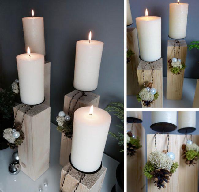 adventskranz aus holz selber machen diy mokowo weihnachtsblog. Black Bedroom Furniture Sets. Home Design Ideas
