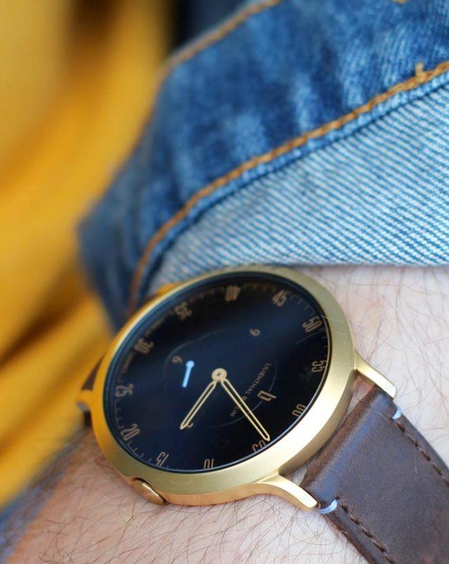 goldene Lilienthal Berlin l1 Uhr klassische-minimalistische-Herrenuhr-modeblog männer