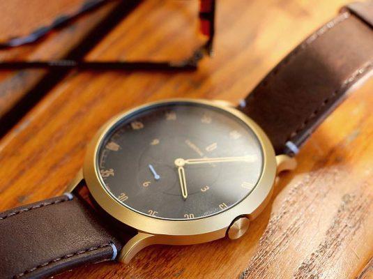 goldene Lilienthal-Berlin-Uhr klassische-minimalistische-Herrenuhr-modeblog-maenner