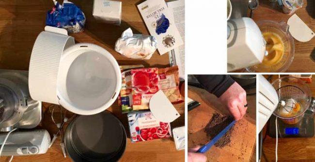 Zubereitung der selbstgemachter Himbeertorte - Rezept Himbeertorte mit Frischkäse