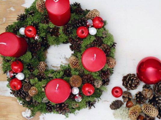 Bild vom traditionelle Adventskranz Weihnachtsblog