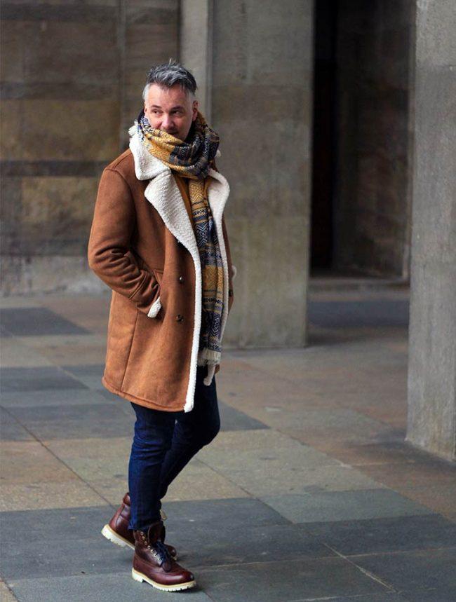Lederjacke mit Teddyplüsch für Männer, Winteroutfit Herren Modetrend, Winter Männer 2018, Winterkleidung Herren, Modeblog für Männer, Lifestyle Blog Berlin