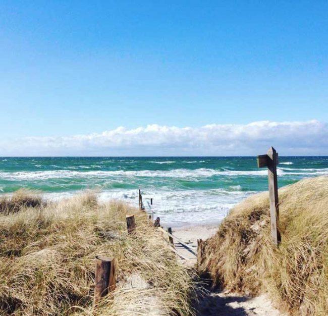 blick strand ostsee - reisebericht ostsee