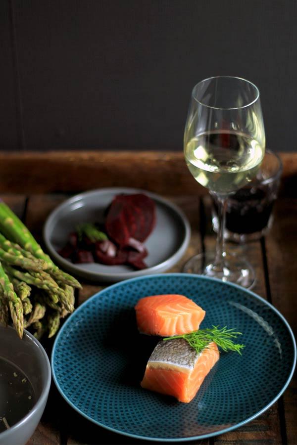 Zutaten Färöer Lachs Kochrezept auf Kochblog mit Lachs, Rote Bete