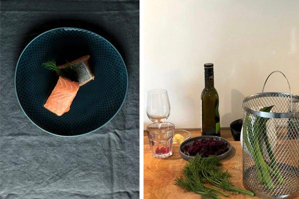 Färöer Lachs und grüner Spargel auf Kochblog Berlin