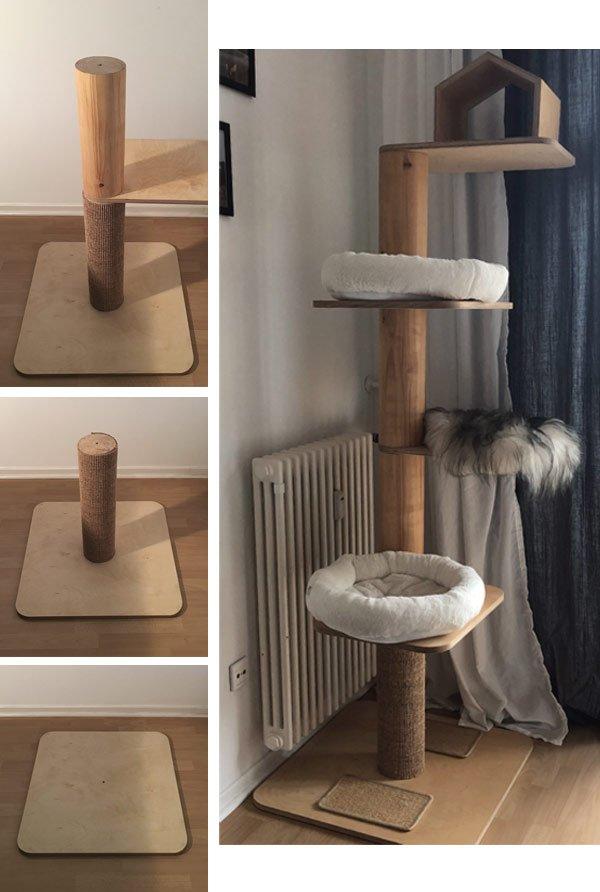 Bauanleitung Design Kratzbaum für Katzen Wohnblog Berlin