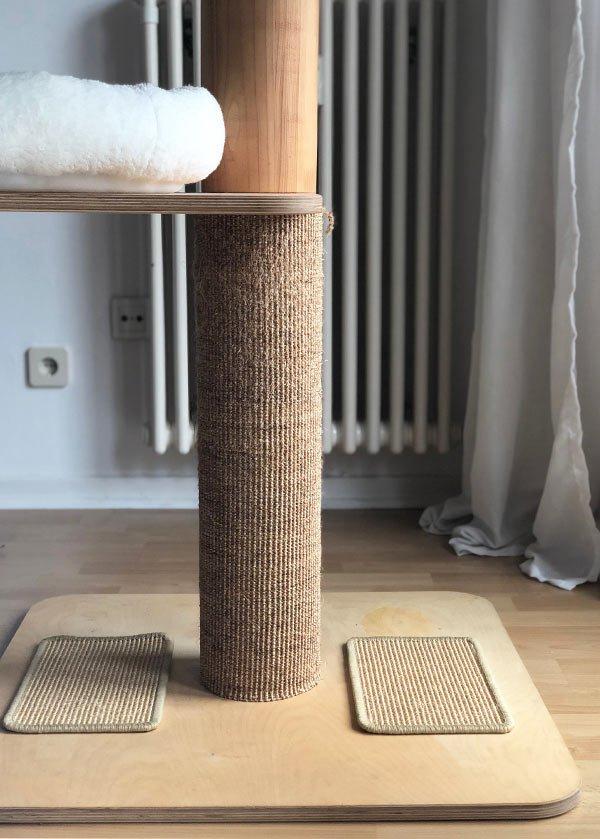 Detail Design Kratzbaum für Katzen DIY Wohnblog Berlin