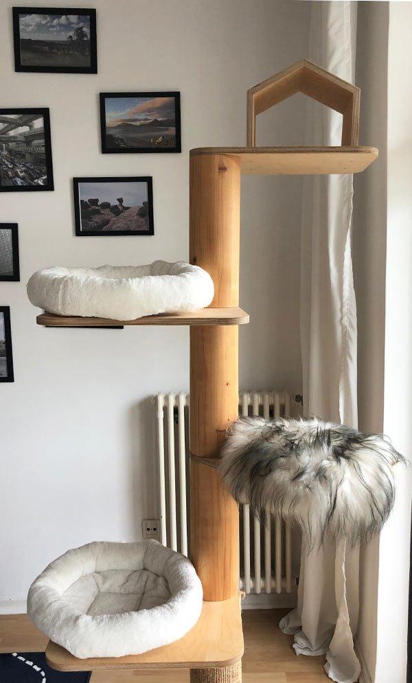 Design Kratzbaum für Katzen DIY Wohnblog Berlin