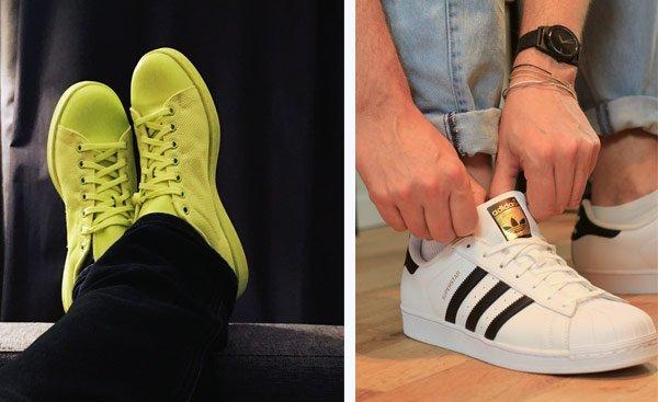 Sneakerlieber - adidas sneaker in neon und superstar sneaker auf modeblog