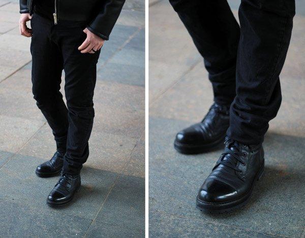 schwarze Marc Jacobs Boots für den Mann - Herbstschuhe Herren