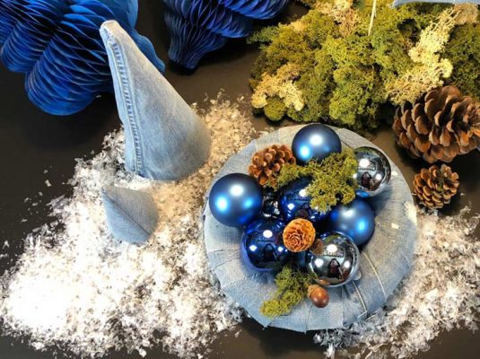 diy upcycling ideen zum advent - jeans adventskranz weihnachten 2018