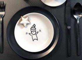 Weihnachtsdeko 2018 - Trends und Deko Ideen - DIY Teller anmalen