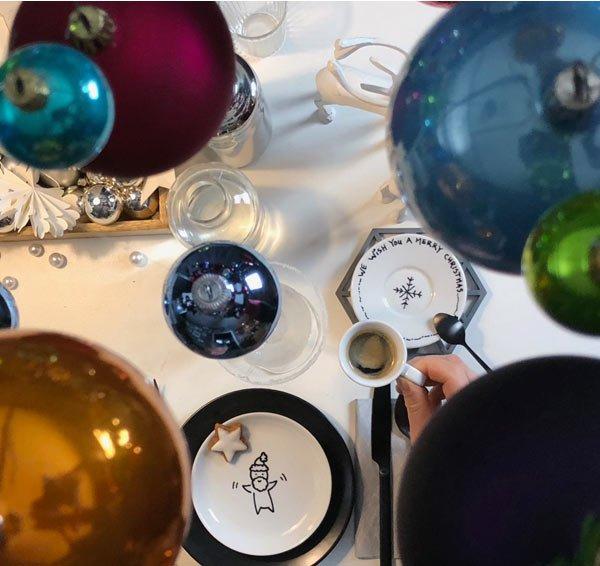 DIY Teller bemalen an Weihnachten