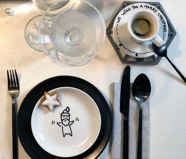 DIY Porzellan bemalen mit Weihnachtsmotiven auf Weihnachtsblog