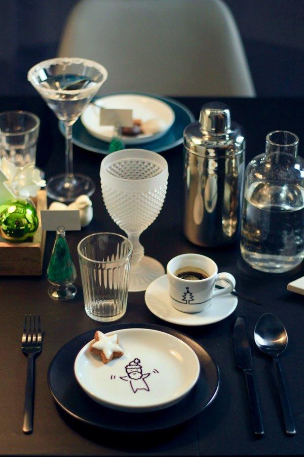 Geschirr bemalen und eine DIY Tischdeko an Weihnachten