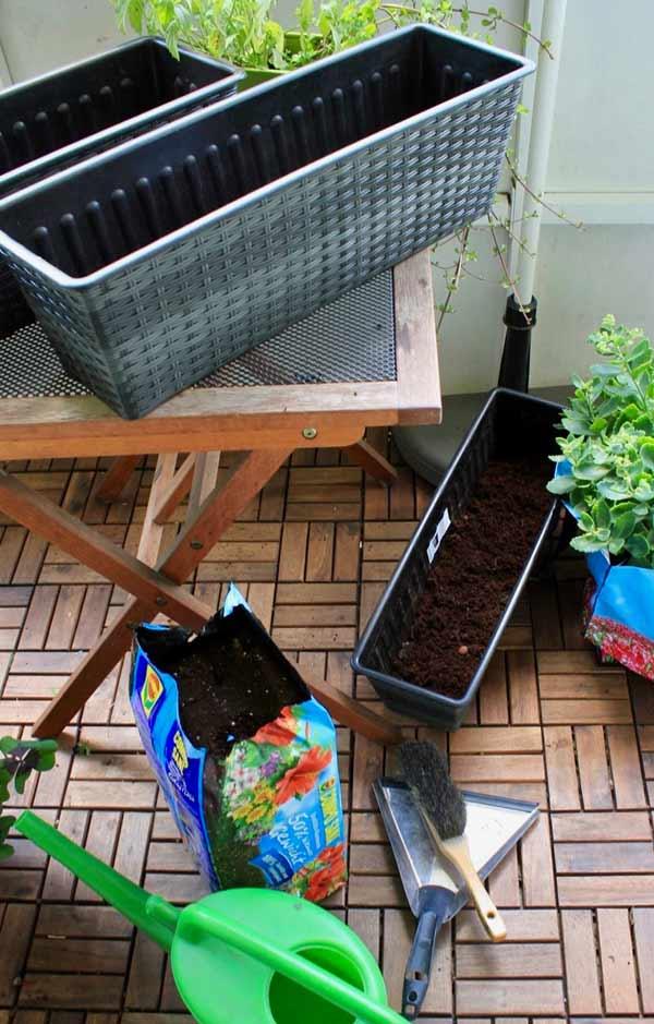 DIY Balkon Pflanzen